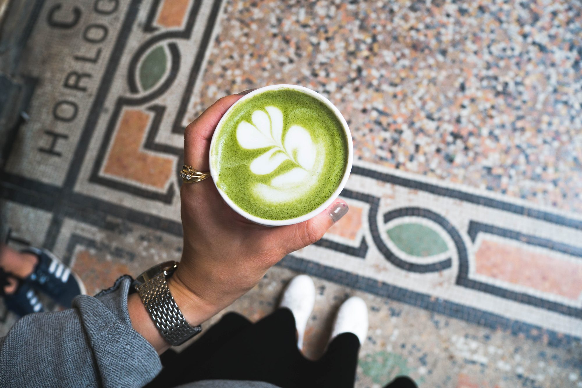 Matcha latte Paris