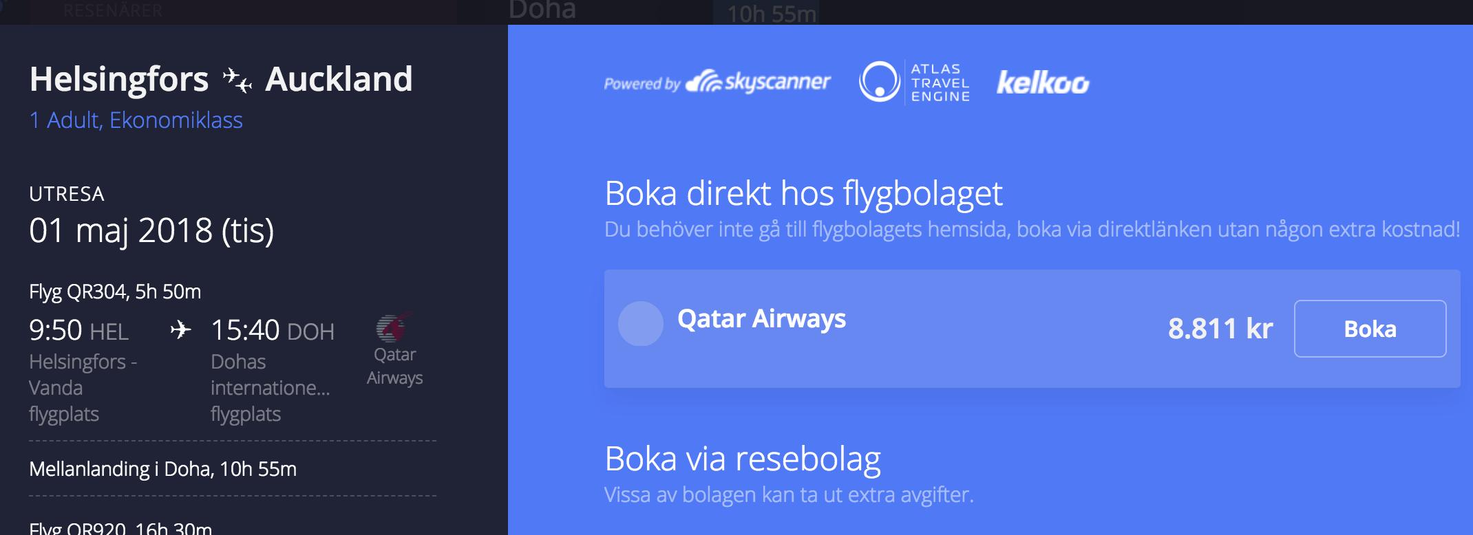 sök flyg med Avionero