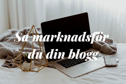 marknadsföra blogg