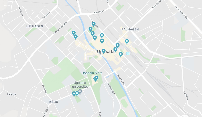 karta med Uppsala-tips