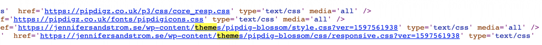 Så ser du vilket tema en hemsida har